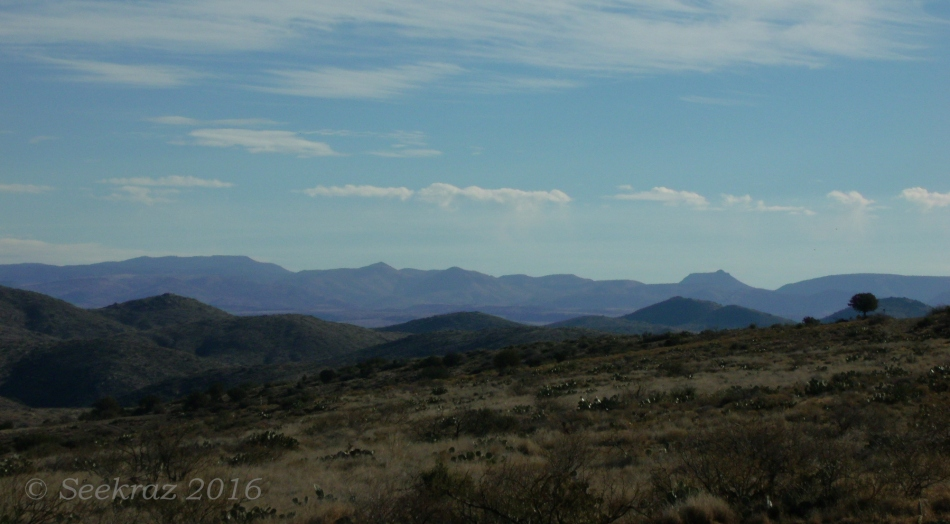 View of sloping plain and mountains along Drinking Snake segment of Black Canyon Trail