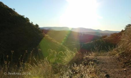 Sun-flash along the Antelope Creek segment of the Black Canyon Trail