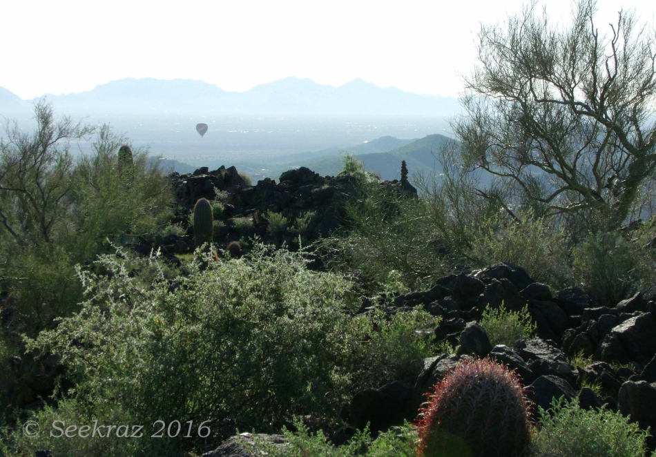Looking east toward Cave Creek from atop the Tramonto Hills