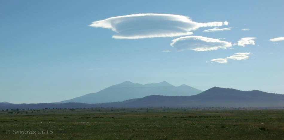 Lenticular clouds over San Francisco Peaks, Flagstaff Arizona