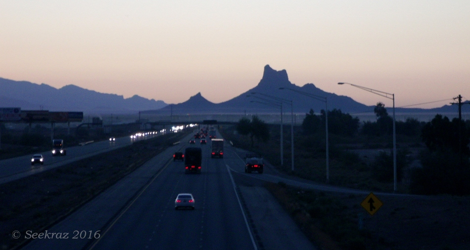 Picacho Peak from Toltec Road Overpass