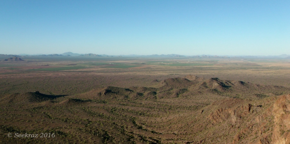 Looking southwest from the saddle on Picacho Peak
