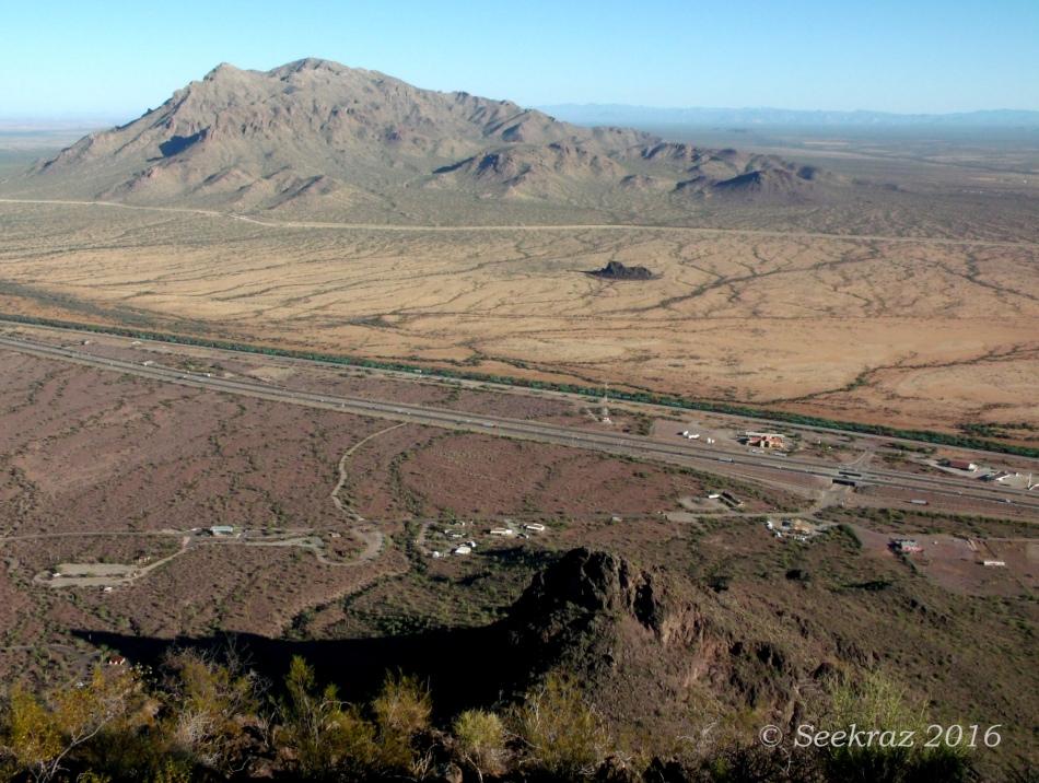 Looking northwest from Picacho Peak summit