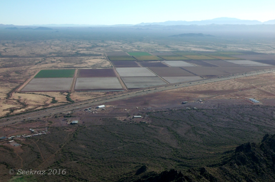 Looking northeast from Picacho Peak summit