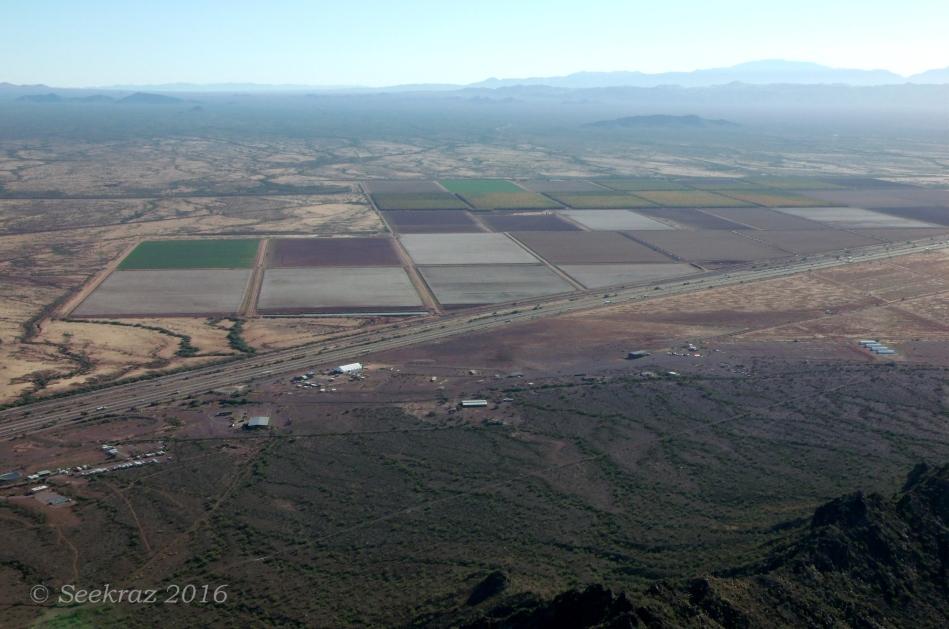 Looking northeast from Picacho Peak summit
