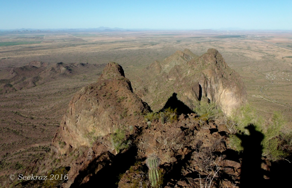 Looking due west from Picacho Peak summit