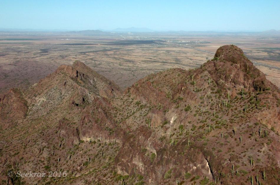 Picacho Peak lower range viewed from western summit