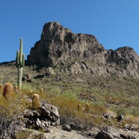 Climbing Picacho Peak....