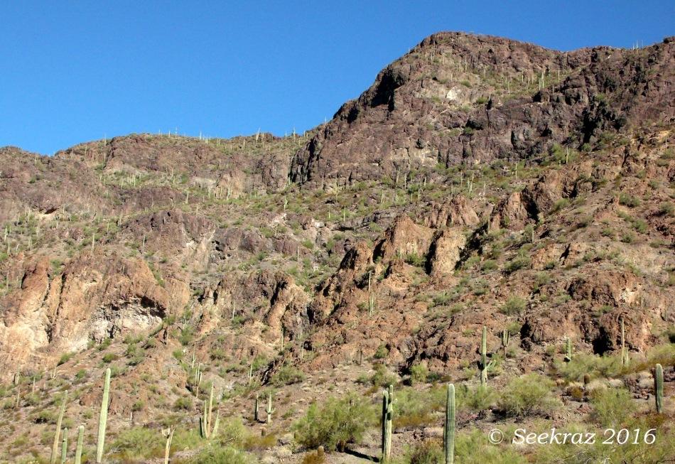 Desert mountain range west of Picacho Peak massif