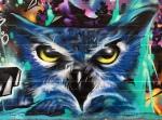 Fernando's Alignment mural-closeup-owl