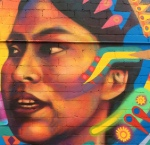 Fernando's Alignment mural-closeup-woman