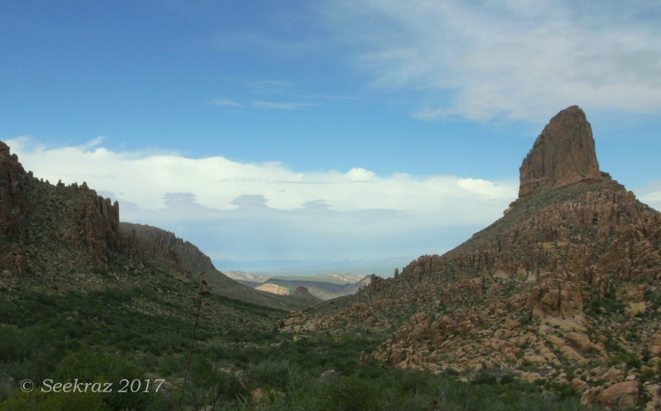Peralta Trail - Peralta Canyon with Weaver's Needle panorama