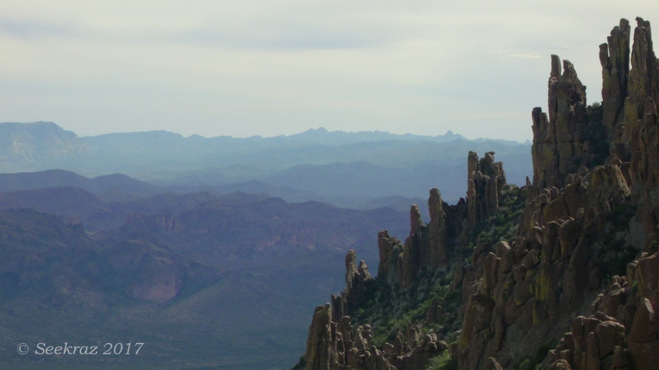 Peralta Trail Tolkien Towers and the Superstition Mountains