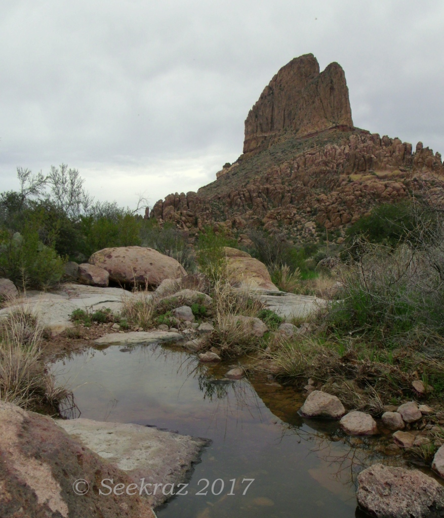 Peralta Trail Weaver's Needle water feature