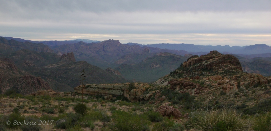 Superstition Mountains - looking southeast from east side of Fremont Saddle