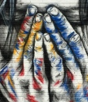 Chalked hands