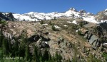 Glacier Alley and Dromedary Peak on the way to LakeBlanche