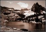 Lake Blanche and Sundial Peak insepia