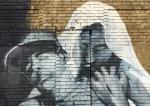 Jesus Saves mural by Enuf3