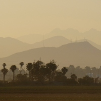 Four Peaks from afar