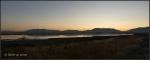 Sunrise reflection in Great Salt Lake from Antelope Islandcauseway