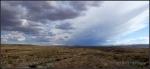 Closer perspective of desert storm south of Kanab,Utah