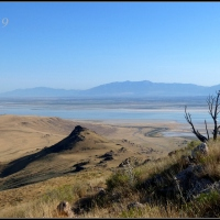 Toward Frary Peak on Antelope Island - Part Middle